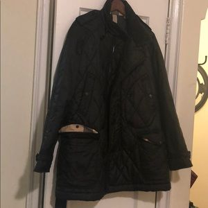 Burberry brit Mens Black quilted coat Size Large
